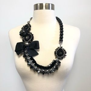 Jewelry - Black Chunky Large Bow Costume Necklace